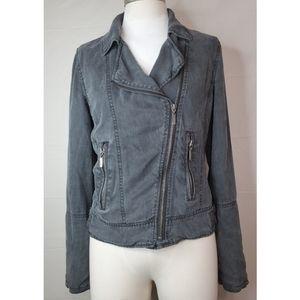 Max Jeans Gray Moto Jacket